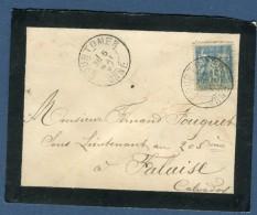France- Oblitération De Courtomer Sur Enveloppe En 1897 Pour Falaise  à Voir 2 Scans   Réf. 893 - Marcophilie (Lettres)