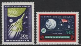 Mongolia (1959) Yv. 157/58  /  Espace - Space - Planet - Astronaut - Spaceship - Satellite - Espacio