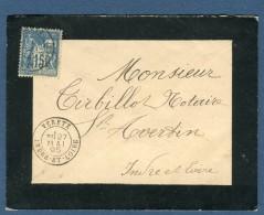 France- Enveloppe De Véretz Pour St Avertin  En 1895   à Voir 2 Scans   Réf. 895 - Postmark Collection (Covers)