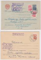 MAZSALACA - SALISBURG (Lettonie) - Lot De 2 Enveloppes Recommandées Urss - Latvia Cccp Registered Cover - Letter - Lettland