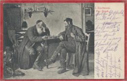 Juifs Jouant Aux échecs - Chess - Judaica - Dessin - J. Kaufmann - Der Streit - Feldpost - Guere 14/18 - Judaísmo