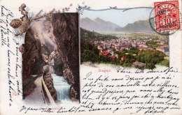 Litho RAGAZ - Taminaschlucht, Seltene Karte Gel.1906 - SG St. Gallen