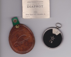 PHOTOMETRE   DIAPHOT ZEISS IKON  A.G. DRESDEN A   DANS SON ÉTUI AVEC NOTICE D'INSTRUCTION - Material Y Accesorios