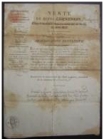 1815 Narbonne (Ginestat Roubia) Vente D'un Creux à Fumier (adjudication) Signée Du Sous Préfet - Manuscripts