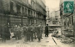 75  PARIS INONDATIONS 1910   POMPIERS RUE DE L'ARCADE - Alluvioni Del 1910