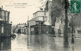 75  PARIS INONDATIONS 1910   RUE GROS A AUTEUIL - Alluvioni Del 1910