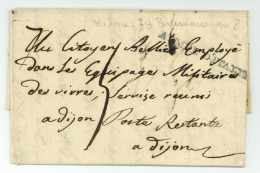 ARMEE D'ITALIE - Milano Pour Dijon 1799 - Sellos De La Armada (antes De 1900)