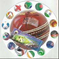 Bangladesh 2015,Ball Shape Maxim Card On Cricket, ICC Cricket World Cup 2015 Bangladesh - Cricket