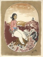 A Girl From Thule - Greenland.  A-1592 - Greenland