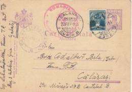 AVIATION STAMP, KING CHARLES 2ND MILITARY POSTCARD STATIONERY, ENTIER POSTAL, CENSORED, 1933, ROMANIA - Cartas