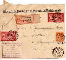 Chemins De Fer De Paris A Lyon Et A La Méditerranée-expropriation Pour Cause De Déviation Entre Lucy Et Bobigny - Marcophilie (Lettres)