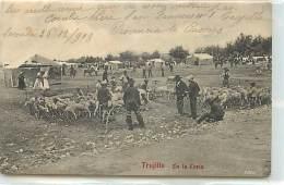 CPA ESPAGNE TRUJILLO EN LA FERIA LES MOUTONS 1908 VOIR IMAGES - Altri