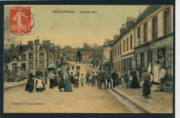 SAINTE GAUBURGE - Grande Rue (très Belle Carte Toilée ) - France