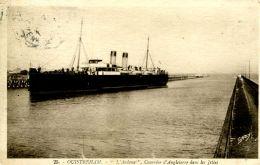 """N°335 E -cpa Ouistreham -""""l'Ardena"""" Courrier D'Angleterre Dans Les Jetées- - Commerce"""