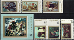 Albania 1971 _ Figurative Arts, National Paintings + Minisheet - Full Set MNH** - Albania
