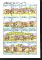 TANZANIA  769  MINT NEVER HINGED MINI SHEET OF WILDLIFE & ANIMALS - Briefmarken