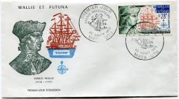 WALLIS ET FUTUNA ENVELOPPE 1er JOUR DU PA 45 SAMUEL WALLIS (1728-1795) OBLITERATION MATA - UTU 20 JUILLET 1973 - FDC