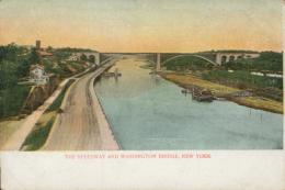 US NEW YORK CITY / The Speedway And Washington Bridge / CARTE COULEUR - Ellis Island
