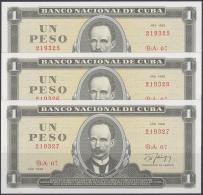 1988-BK-20 CUBA 1988 1$ JOSE MARTI 3 CONSECUTIVE. - Cuba