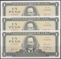 1988-BK-21 CUBA 1988 1$ JOSE MARTI 3 CONSECUTIVE. - Cuba