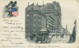 US NEW YORK CITY / Fifth Avenue North, From The Waldorf Astoria / - Wall Street