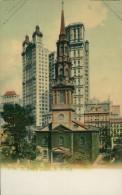 US NEW YORK CITY / Saint Paul's Chapel / CARTE COULEUR GLACEE - New York City