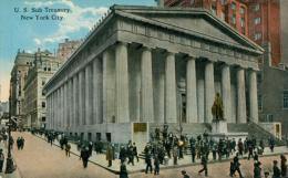 US NEW YORK CITY / U.S Sub Treasury / CARTE COULEUR CARTE GLACEE - New York City