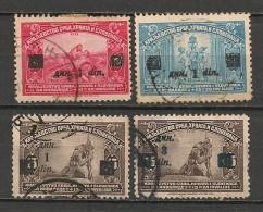 Timbres - Yougoslavie - 1924 - Lot De 4 Timbres - N° 143, 144, 145, 146 - - Oblitérés