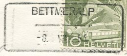 1505 - BETTMERALP -8.VII.54 - Aushilfstempel