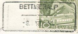 1505 - BETTMERALP -8.VII.54 - Aushilfstempel Auf Ansichtskarte - Marcophilie