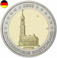 ALLEMAGNE 2008 / LES 5 PIECES COMMEMORATIVES A-D-F-G-J / PRESIDENCE DE HAMBOURG AU BUNDESRAT - Allemagne