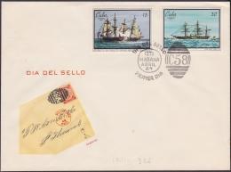 1971-FDC-32 CUBA. 1971. FDC DIA DEL SELLO. STAMP DAY. PAQUEBOT SHIP - FDC