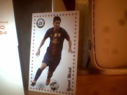 CARD FOOTBALL ; LIONEL MESSI;  THIAGO EMILIANO DA SILVA - Bierviltjes
