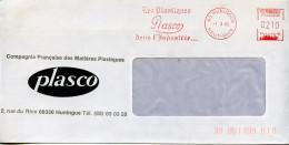 EMA Industrie Chimie,plastique,Compagnie Française De Matières Plastiques PLASCO,68 Huningue,Haut-Rhin,lettre 1.3.1985 - Factories & Industries