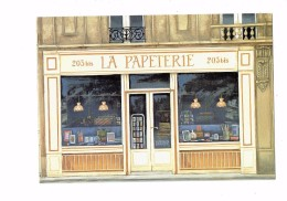 Cpm - Micheline Danon Marcho - La Papeterie - Vitrine Magasin Illustration Livres Crayons Lustre Lampe - Shops