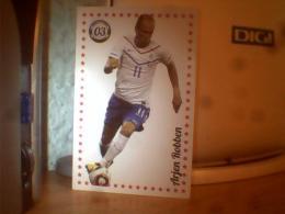 3 CARD FOOTBALL ; ARJEN ROBBEN ; CARLOS TEVEZ; LIONEL MESSI - Trading Cards