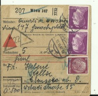 PAKETKARTE  -  WIEN, AUSTRIA   -  1942 - Covers & Documents