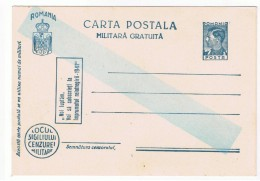 Romania Carte Postala Militara Gratuita - Necirculata, Stare Perfecta!!! - Roumanie