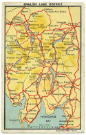 ENGLISH LAKE DISTRICT : MAP (EMBOSSED) - Cumberland/ Westmorland
