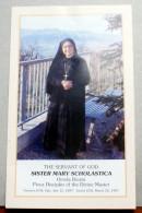 ITALIA - SANTINO DI SISTER MARY SCHOLASTICA SERVANT OF GOD - Santini