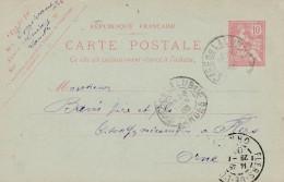 """Sur Entier Postal Cachet """"GARE DE LALUQUE""""  2 Scan"""