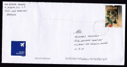 Portugal: Airmail Cover To USA, 2003, 1 Stamp, History Of Coffee, Café, Priority Label (minor Discolouring) - 1910-... República