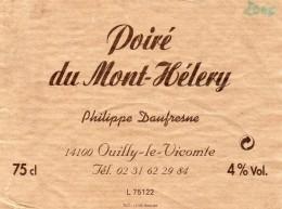 Etiquette Poiré Du Mont-Hélery - Philippe DAUFRESNE 14100 OUILLY-LE-Vicomte - Fruits & Vegetables