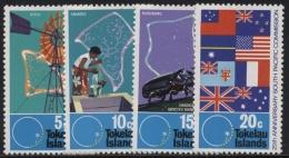 Tokelau 1972 25 Jahre Südpazifik-Kommission Flaggen Käfer 26/29 Postfrisch - Tokelau