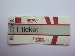 Ticket De Transport Bus T2C Clermont Ferrand 63 - Transporte