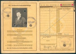 Deutschland, Germany - RAD - Reichsarbeitsdienst - Paß ( + 2 Fotos ) Von 1941 Aus Heidelberg ! - Historische Dokumente