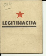 CROATIA  -  LEGITIMACIJA  --  ID CARD  --   WITH MAN PHOTO  --  1947 - Historische Dokumente