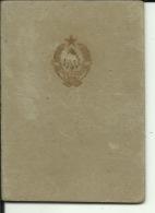 CROATIA, SIBENIK   -  LEGITIMACIJA  --  ID CARD  --   WITH MAN PHOTO  --  1946 - Historical Documents