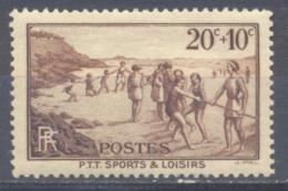 France YT N°345 P.T.T. Sports Et Loisirs Neuf ** - Nuevos