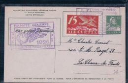Aviation Suisse, Le Locle Vu D'avion, 1ère Poste Aérienne La Chaux De Fonds - Bâle (15.5.1926) - Luftpost